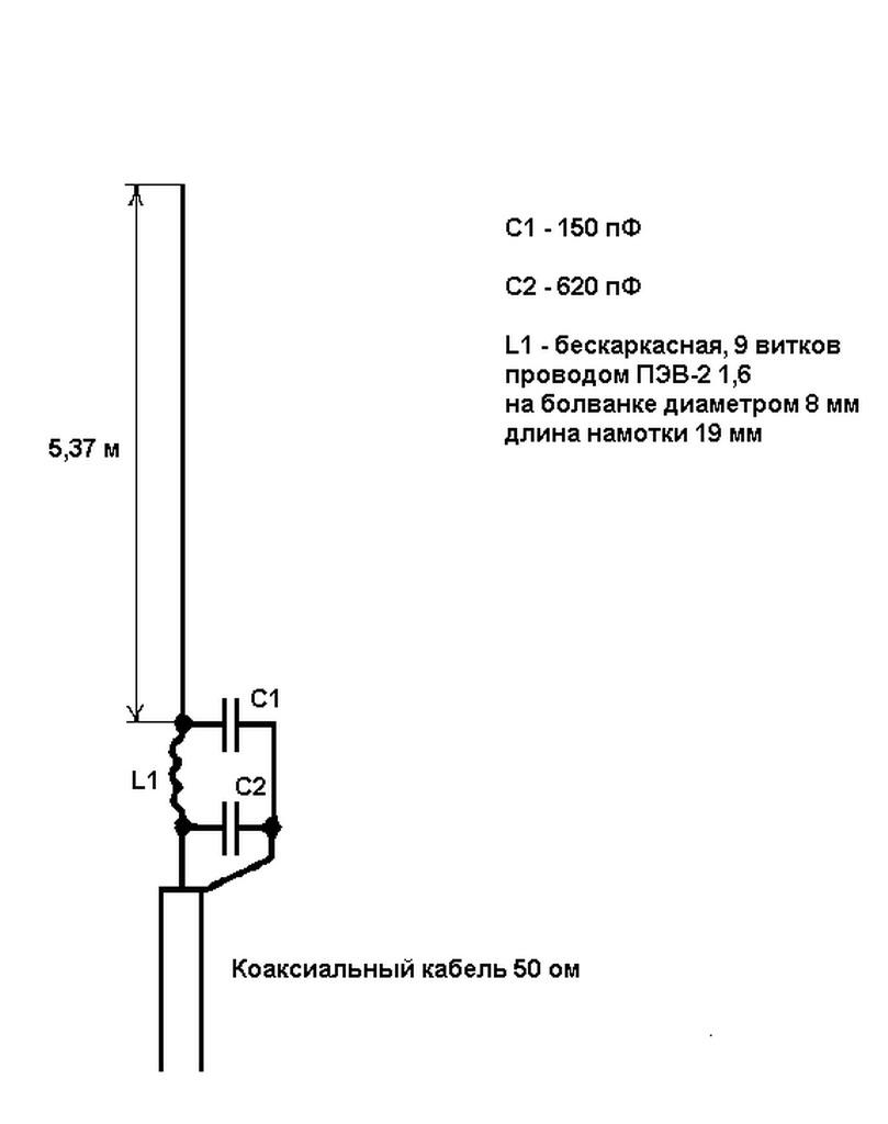 Антенная схема для радиостанции
